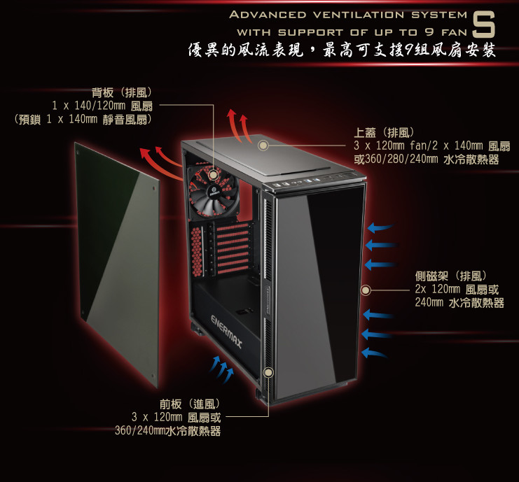 Enermax EQUILENCE Silent Tempered Glass Computer Case