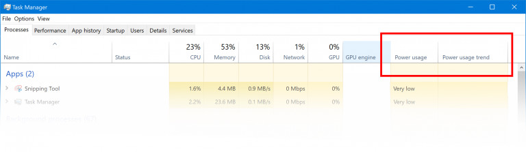 Upcoming Windows 10 Task Manager Update to Show Power Usage