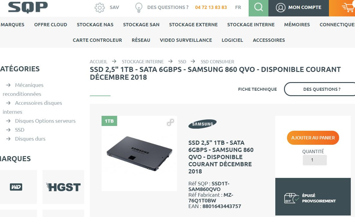 The New Samsung 860 QVO SSD With QLC NAND Gets Listed Online