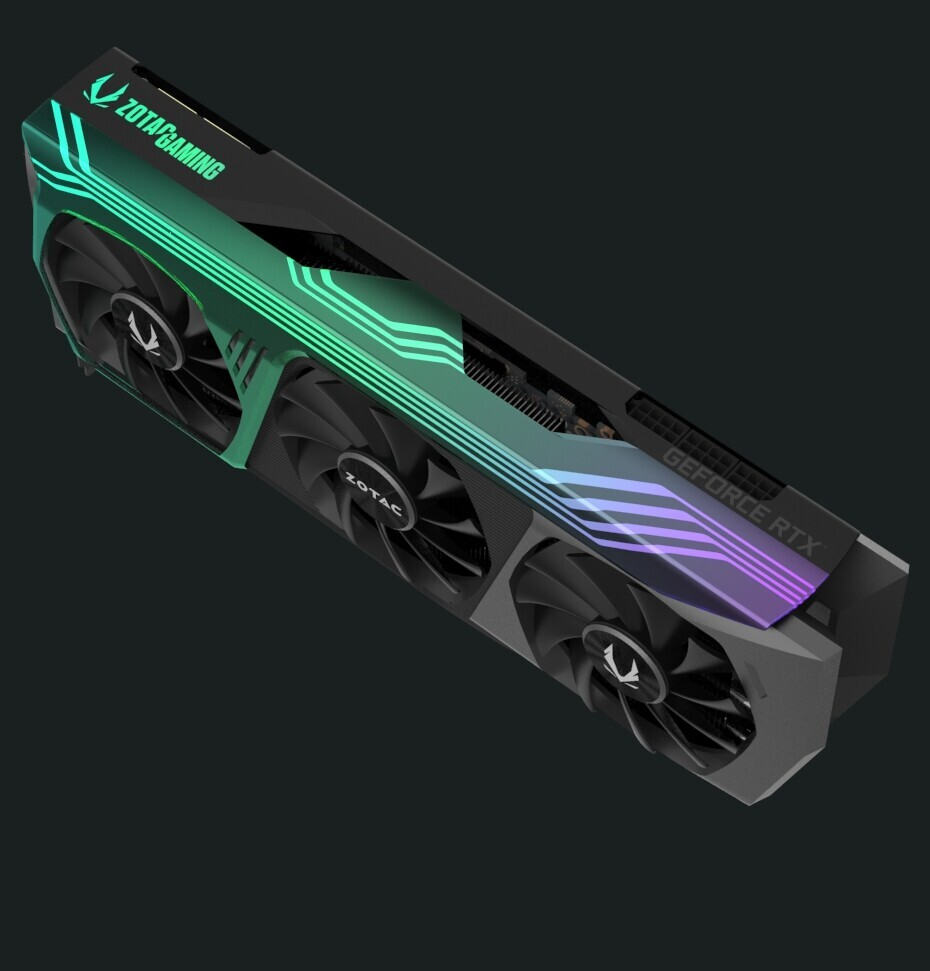 Zotac Geforce Rtx 3090 And Rtx 3080 Trinity Holo Custom Design Graphics Card Rendered Techpowerup