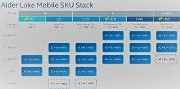 Intel Alder Lake Mobile Configurations