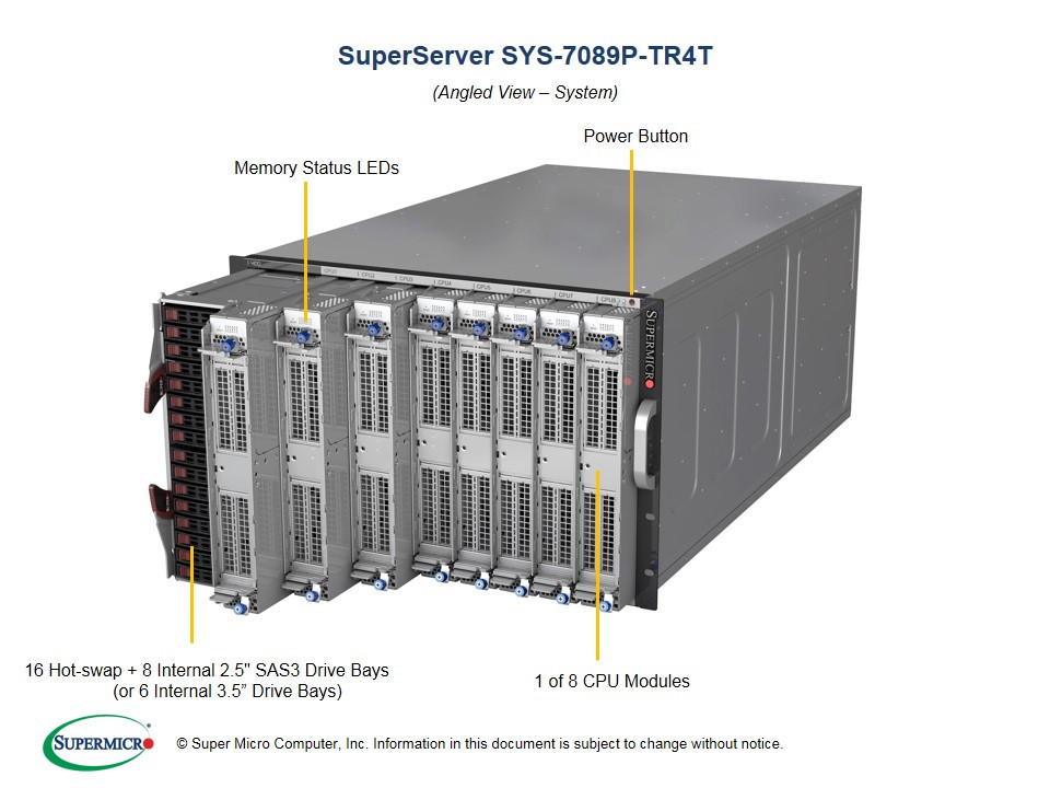 Supermicro Unveils New 8-Socket Server for Intel Xeon Scalable