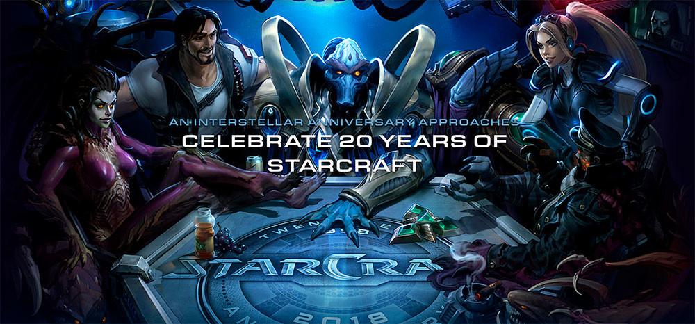 Blizzard Celebrates Starcraft S 20th Anniversary With Many