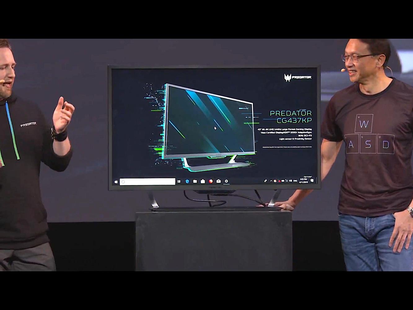 Acer Unveils Predator CG437KP monitor: 43