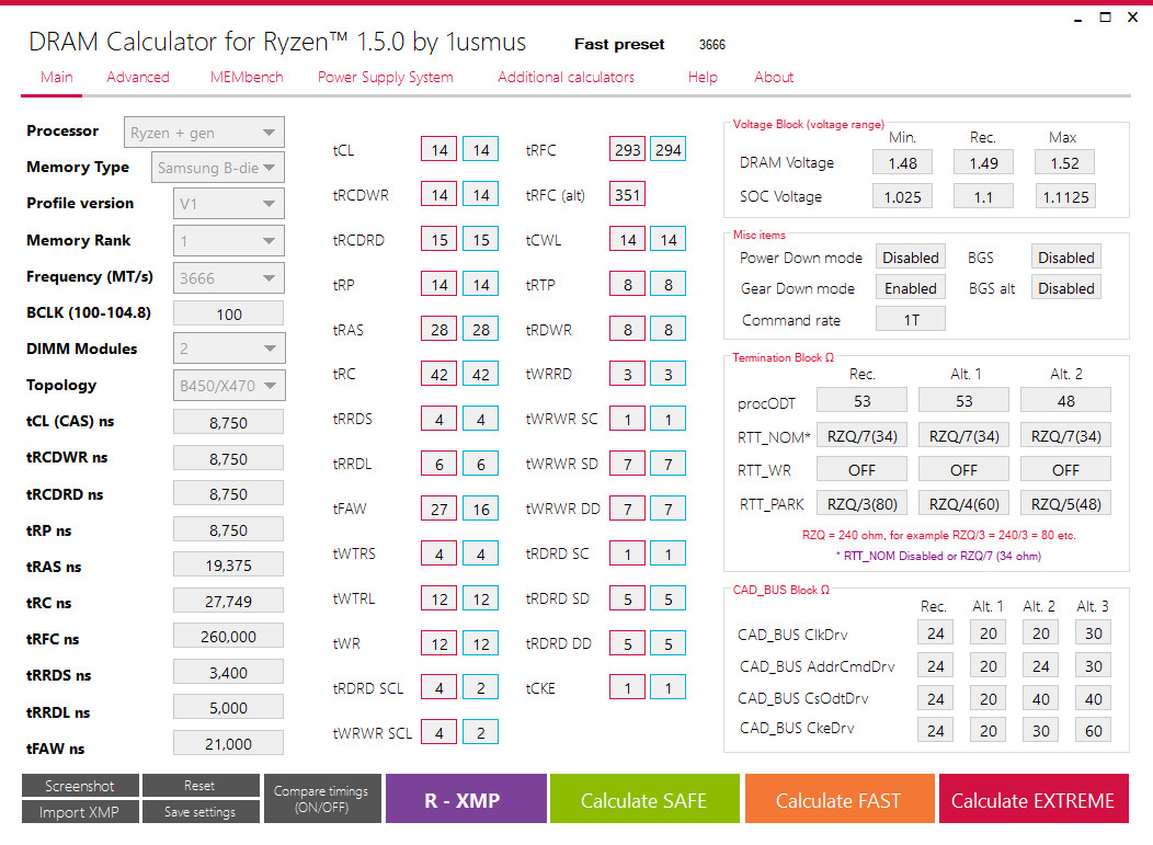 Announcing DRAM Calculator for Ryzen v1 5 0 with an
