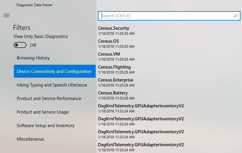 Microsoft to Introduce Telemetry Data Viewer for Windows | TechPowerUp