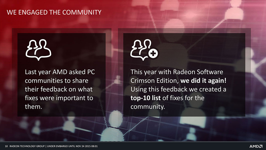 how to change to integrated graphics radeon chrimson
