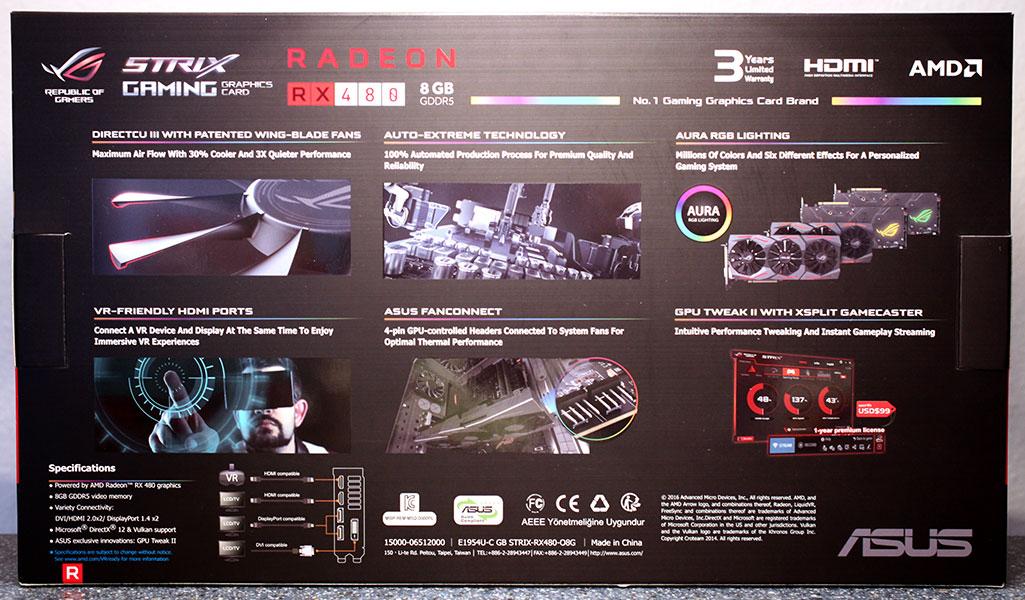 ASUS RX 480 STRIX OC 8 GB