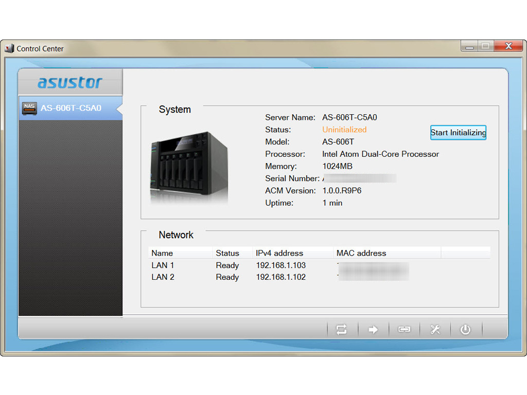 asustor as 606t nas review techpowerup. Black Bedroom Furniture Sets. Home Design Ideas