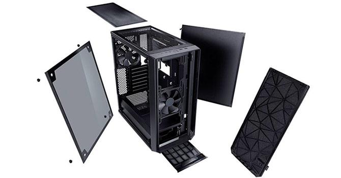 fractal design meshify c review techpowerup. Black Bedroom Furniture Sets. Home Design Ideas