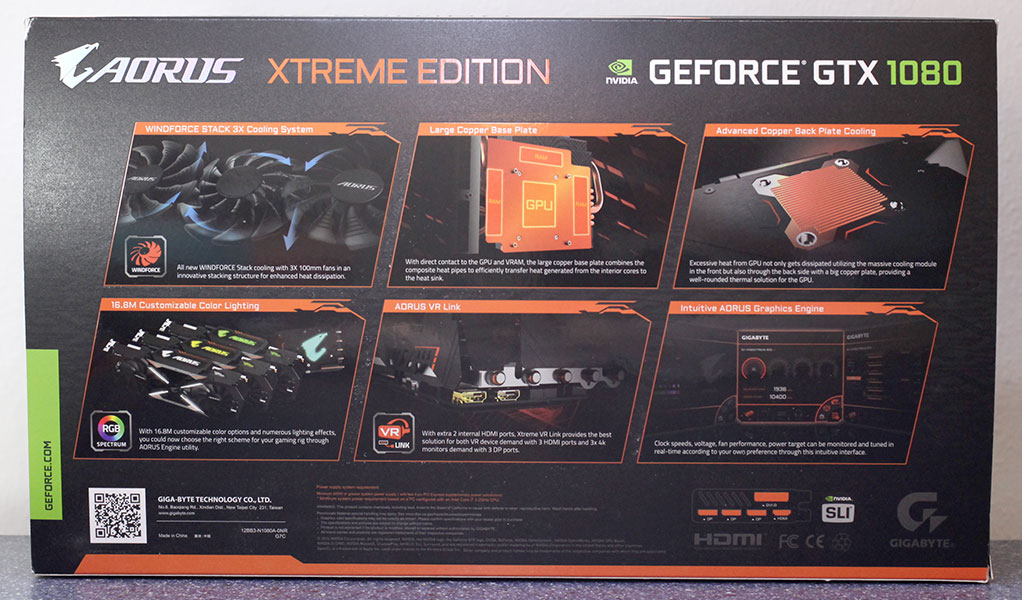 Aorus Xtreme GTX 1080 Edition 8 GB
