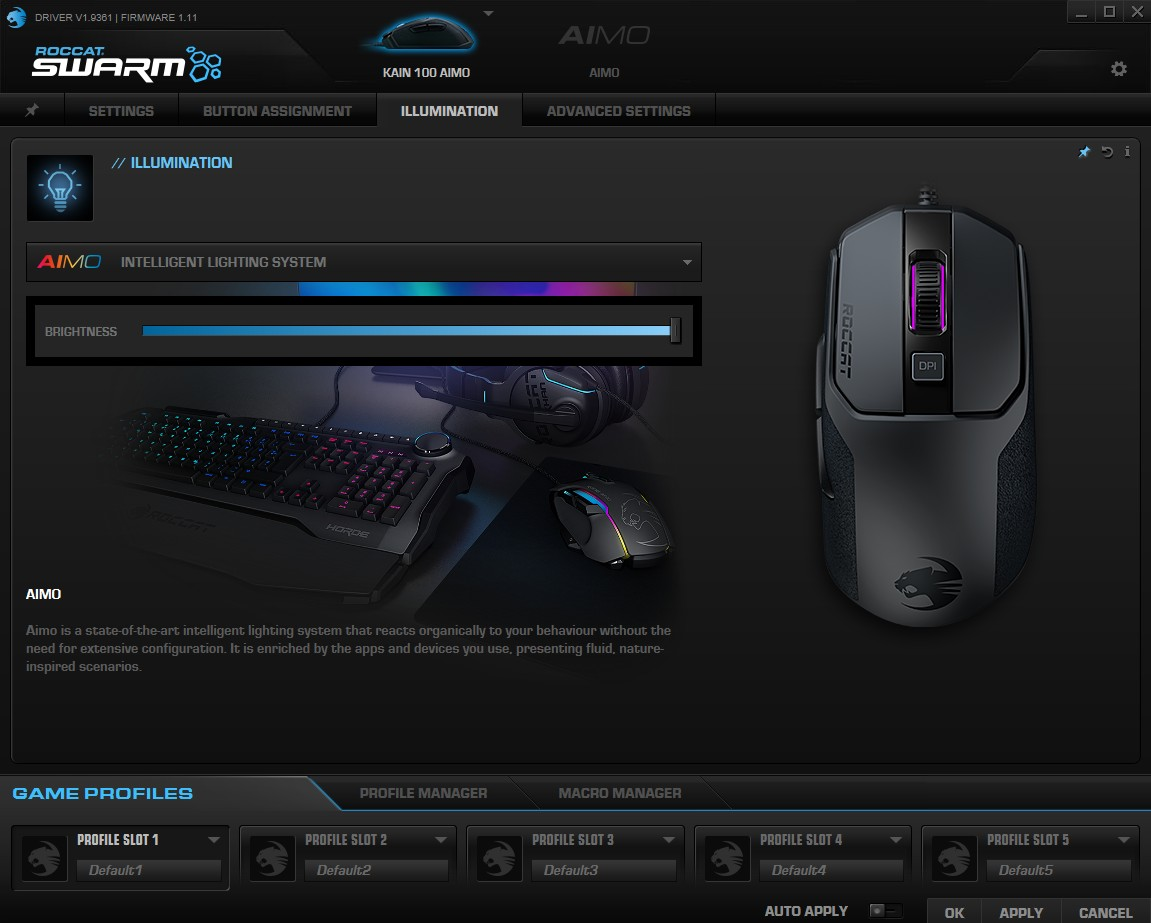 ROCCAT Kain 100 AIMO Review - Software & Lighting ...