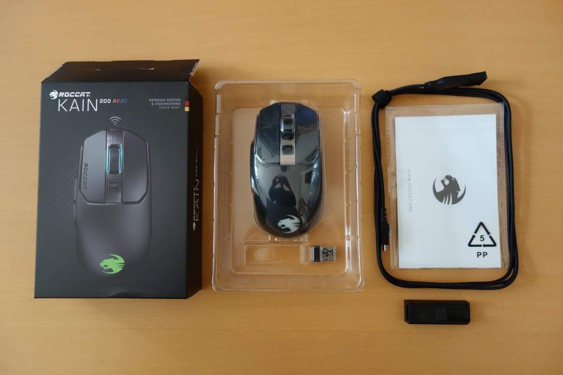 ROCCAT Kain 200 AIMO Review - Packaging, Weight, Cable ...
